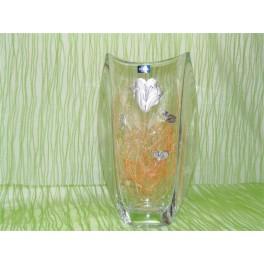 Florero de cristal de bohemia modelo orbit 305 ml