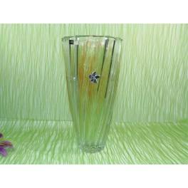 Florero de cristal de bohemia modelo scallope