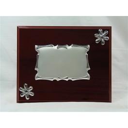 Placa de madera con plata