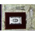 Estuche de copas de brindis  Angeliana con placa madera 25 aniversario